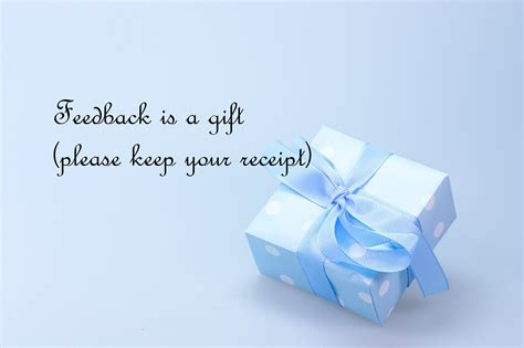 what is a gift thank you for your feedback izande professional