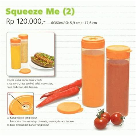 Botol Saus Tupperware jual produk baru squeeze me tupperware serving collection