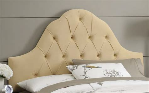Tufted Arch Headboard arch tufted upholstered headboard rosenberryrooms