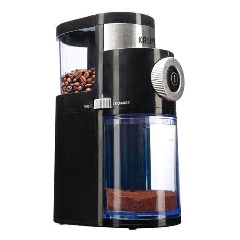Krups Coffee Grinder krups flat burr coffee grinder black stainless shop
