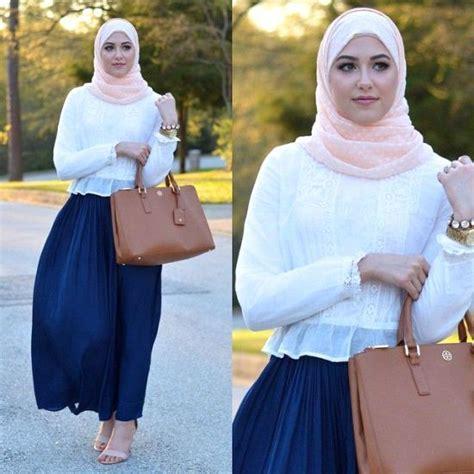 Blouse Blus Atasan Pakaian Wanita Blue Striped Flower S 346233 17 model baju atasan muslim terbaru tahun 2016
