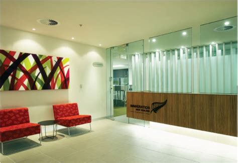 office wall design ideas contemporary red sofa fascinating commercial office