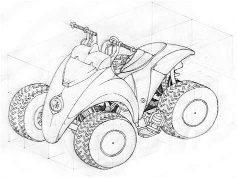 coloring pages quad bike drawn bike quad bike pencil and in color drawn bike quad