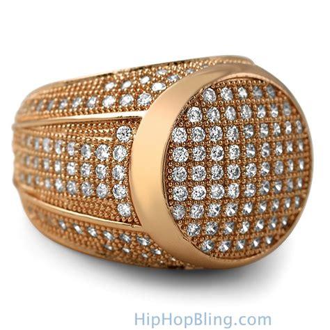 Bling Bling Rosegold presidential gold cz bling bling ring bling