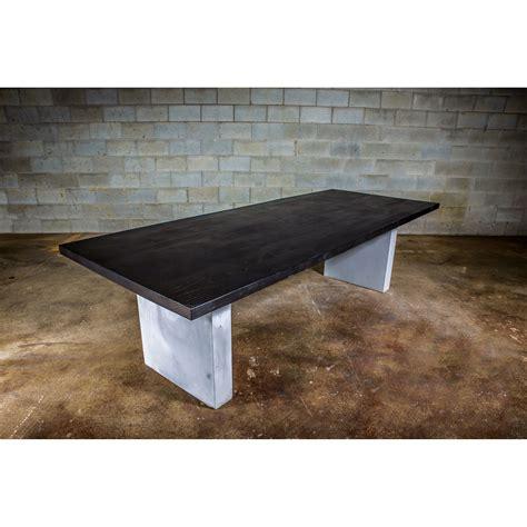dining table black concrete wood dining table black stained ash wood concrete legs 72 quot l x 38 quot w x 30 quot h bois design