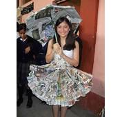 Disfraz De Reciclado PAPEL PLASTICOS Pancartas Camisas Sombreros Flor