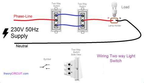 two way electrical switch wiring diagram two way light switch connection