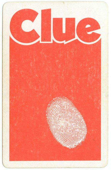 clue cards place template clue card back i need to find a place to work this in