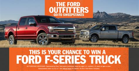 Ford Outfitters Go To Sweepstakes - ford outfitters go to sweepstakes enter online sweeps