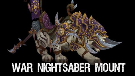 Wow Do This With An by Patch 5 4 War Nightsaber Mount