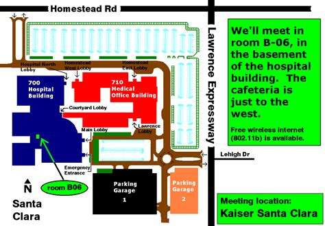 kaiser san jose hospital map welcome to s c c a r a home page