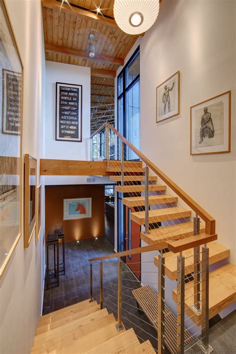home design story stairs half century rancher renovated into large modern 2 story home modern house designs