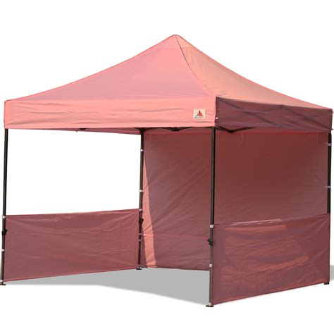 10x10 Canopy Abccanopy 10x10 Deluxe Pink Pop Up Canopy Trade Show Both