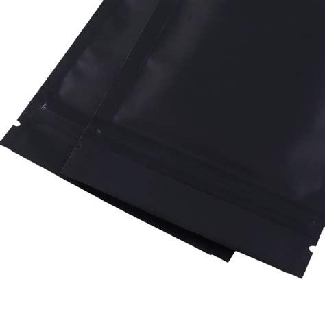 matte mylar sided black matte metallic mylar flat ziplock bag 8