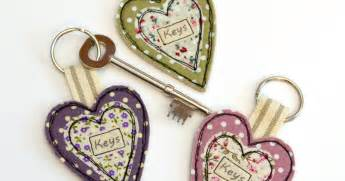 Handmade Fabric Keyrings - stitch galore handmade fabric keyrings