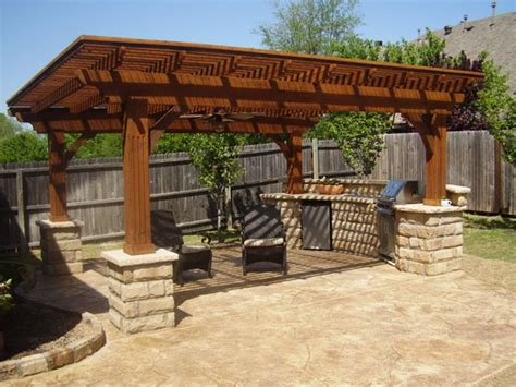 backyard shelter outdoor kitchen design ideas with shelter in your garden