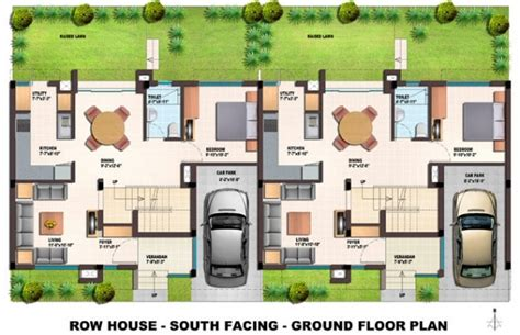 Philadelphia Row Home Floor Plan With Garage by Orchids Kovai Row Houses Floor Plans With Regard To