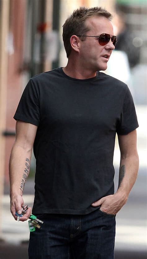 kiefer sutherland tattoos kiefer sutherland photos photos kiefer sutherland out in