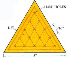 pattern for triangle peg game make a triangle peg game diy mother earth news