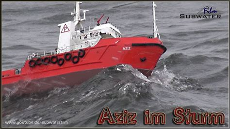 rc boats in big waves rc offshore ship aziz fighting big waves youtube