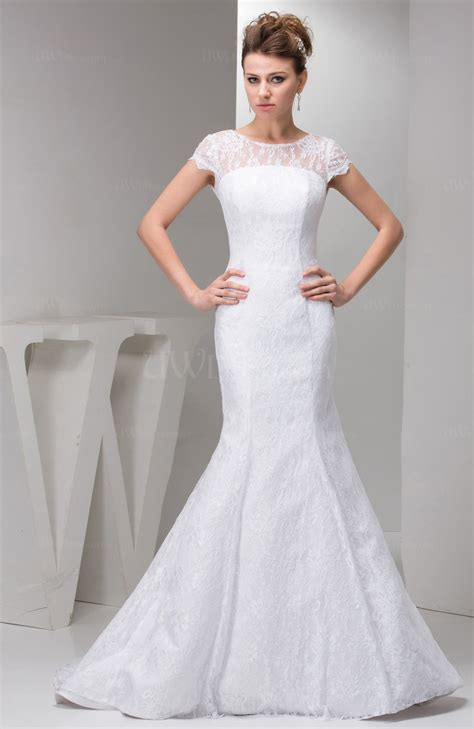 wedding dress with with sleeves bridal gowns lace simple figure summer