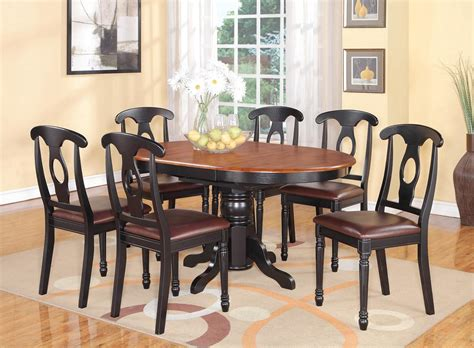 Oval Kitchen Table Sets by 5 Pc Oval Dinette Kitchen Dining Set Table W 4 Leather