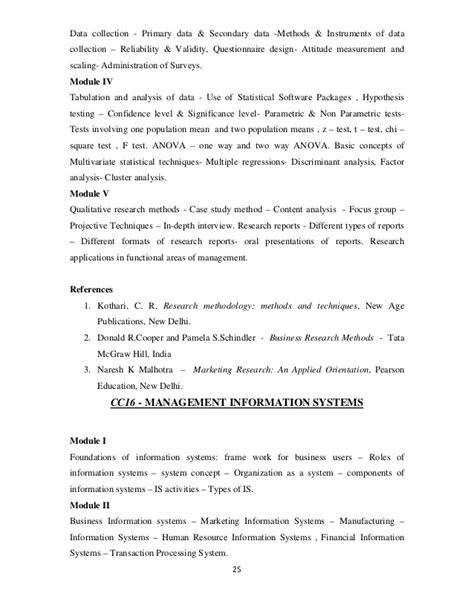 Mg Mba Syllabus 2012 by Mba Syllabus 2012