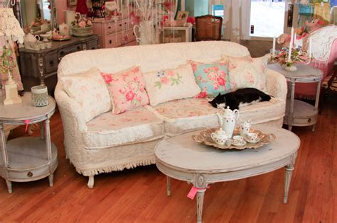 shabby chic sofas living room furniture shabby chic sofa slipcovered with vintage chenille bedspreads and roses fabrics eclectic