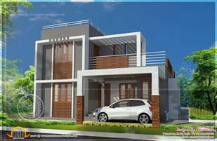 Small Contemporary House Designs by Small Double Storied Contemporary House Plan Kerala Home