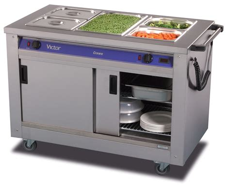 Warming Cabinets Food Victor Crown Bm30ms Mobile Dry Heat Bain Marie Hotcupboard