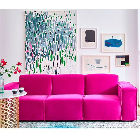bright pink sofa velvet sofas our pick of best ideal home