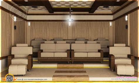 home theater bedroom  dining interior kerala home