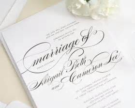 where to get wedding invitations beautiful wedding invitation in black and white with script wedding invitations by shine