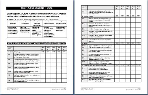 nursing schedule assessment form templates printable