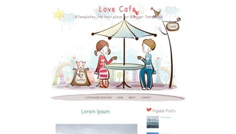 blogger cafe love cafe blogger template btemplates