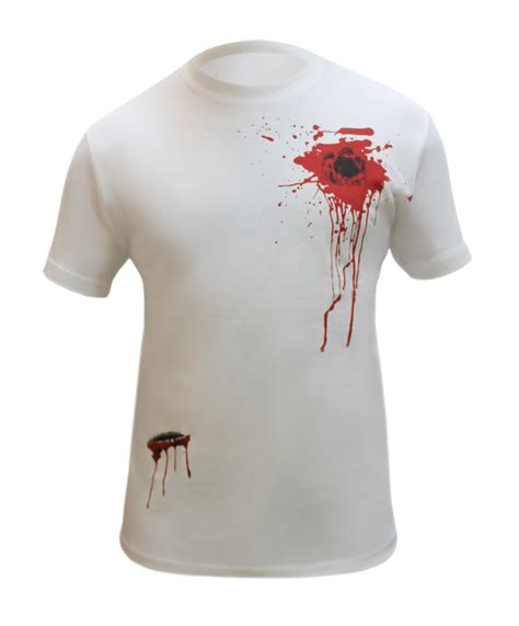tshirt scary ghost baam white bullet wound scar printed t shirt