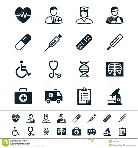 Stock United Healthcare Healthcare Icons Royalty Free Stock Photos Image 32308908