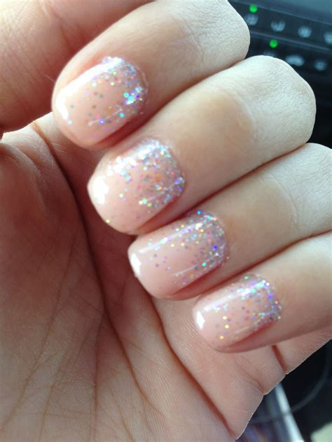 My Wedding nails opi gel color passion sprinkled with