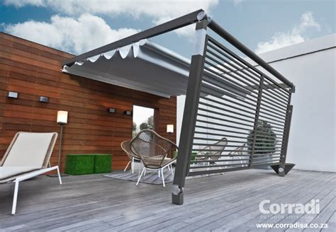Outdoor Patio Awning pergotenda patio awnings with retractable roofs by corradi contemporary outdoor products