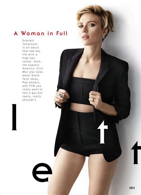 Scarlett Johansson   Cosmopolitan Magazine US May 2016