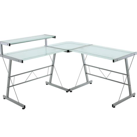 Glass L Shape Desk Glass L Desk Office Depot 28 Images Glass L Shaped Desk Office Depot Desk Home Design L