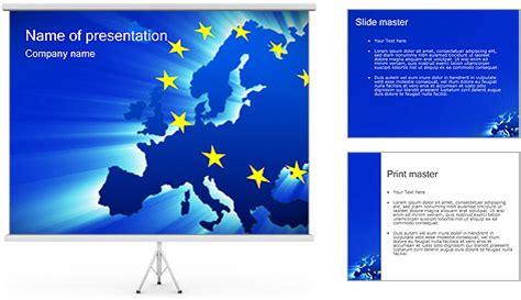 european union powerpoint template map of european union powerpoint template backgrounds id