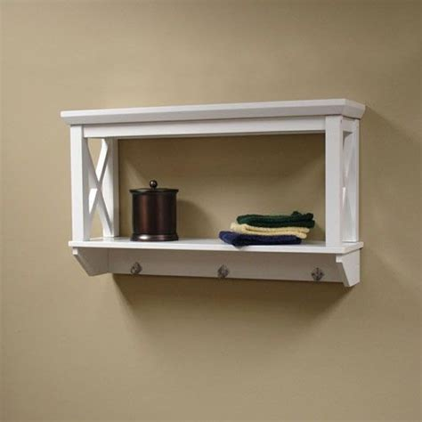 X Frame White Bathroom Wall Shelf Riverridge Home Products Bathroom Wall Mounted Shelves