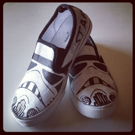 painted shoes diy diy painted wars stormtrooper slip on shoes painted
