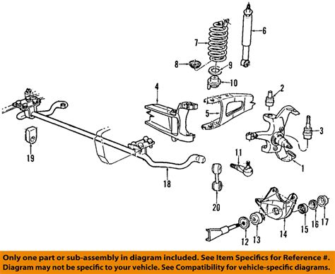 2001 ford f150 front suspension diagram ford oem 92 96 f 150 front suspension mounting bracket