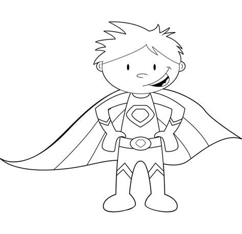 coloring page of a superhero childrens superhero coloring pages coloring pages for
