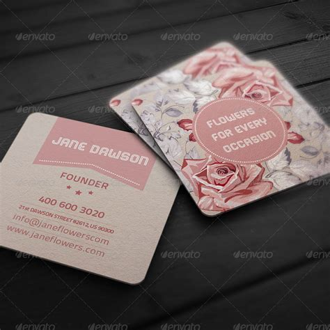 stores that make business cards flower shop business card by elenadodevska graphicriver