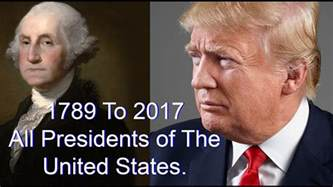 list of all 45 presidents of the united states 1789 2017 youtube