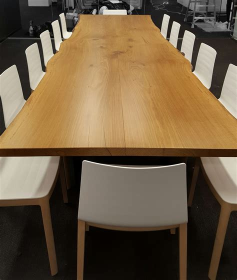 Oak Conference Table From Rstco Live Edge White Oak Conference Table Resawn Timber Co