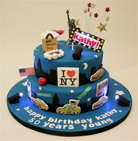 1 Year Birthday Ny - torte decorate con immagini di new york le piu